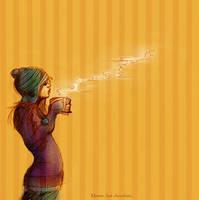 Mmm...hot chocolate by jia-jia
