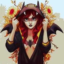 batgirl fan art WIP by kadjura