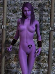 Night elf slave by mememo