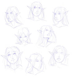 Arinae Emotion Sheet by imperiusunforgivable