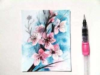Cherry Blossom Branch by amiablez