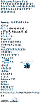 Lucario Sprite sheet UPDATE 3 by ralord