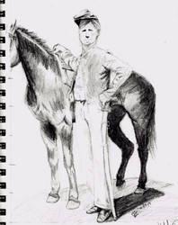 Civil War Cavalry Sketch by Ministry-Maiden