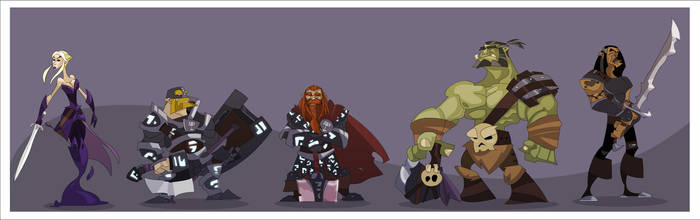 DnD 4e Party IV by hangemhigh13