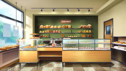 Bakery interior by Vui-Huynh