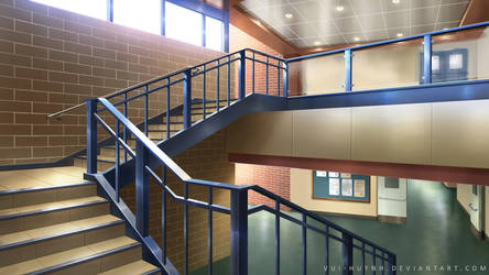 School Stairs by Vui-Huynh