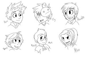 My Favorite Gamers (Sketch) by Kekeywolf