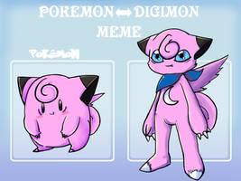 Pokemon - Digimon meme: Clefairy by SolarCookie