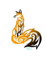 Tribal Fox Tattoo by Jadethefirefox
