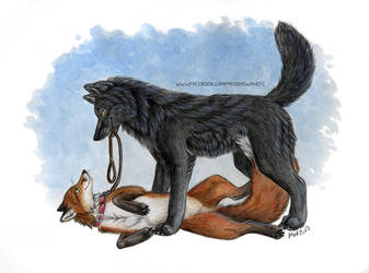Blackwolf and Garviel by Vlcek