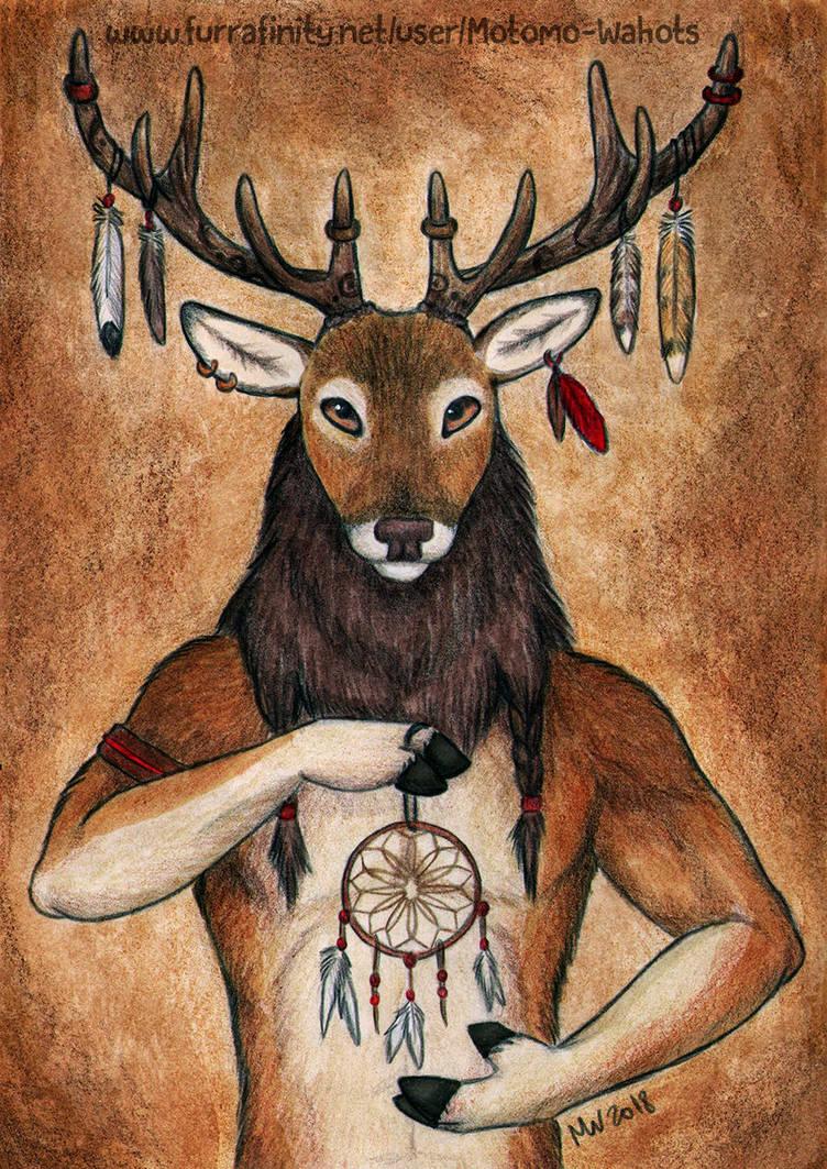 Spiritual deer by Vlcek