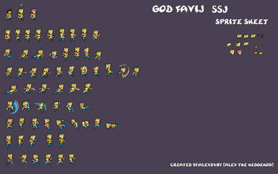 ULSW Dio Favij SSJ sprite sheet by alex2497