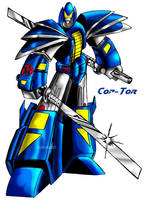 Gobots revamp: Cop-Tor by Giga-Leo