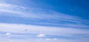 Beautiful sky with RC heli by Bozack