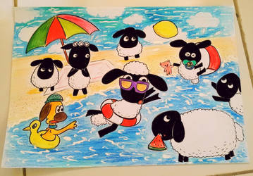 Swiming is Baa~ry Fun by momiji-aya