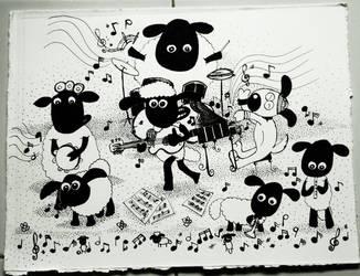 Shaun Musical Yard by momiji-aya