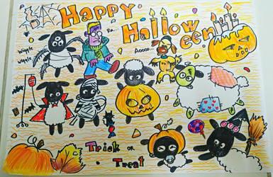 Happy Halloween Shaun and Flocks by momiji-aya