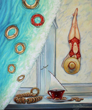 Lisa Ray - Tea with drying and sea view. by lizaray