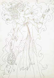 Medusa - Outline by Cherry-RagDoll