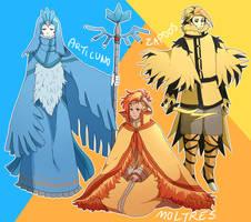 Legendary Gijinkas: Legendary Birds by Jonquilladin