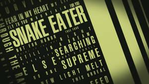 Snake Eater Typography by insyami