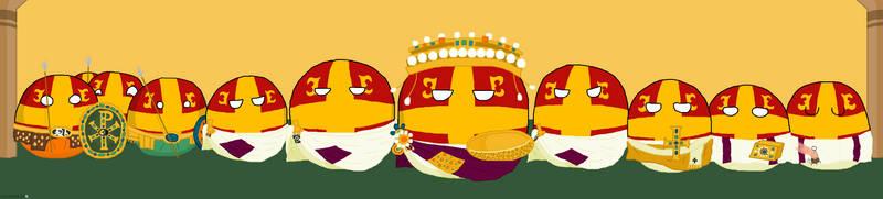 Justinian mosaic: Polandball edition by CaptainMME45