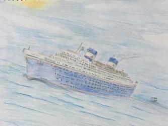 MV Hibueras at sea by CaptainMME45