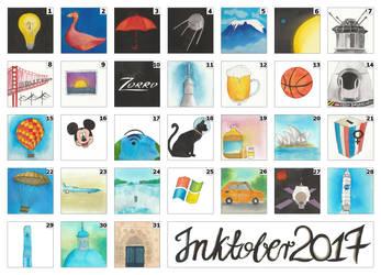 Inktober 2017 by steel--blue