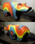 Colorful Hippo With Many Names by vidthekid