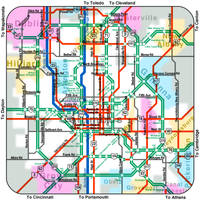 Columbus Subway Map by vidthekid