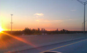 Skyline at Sunrise by vidthekid