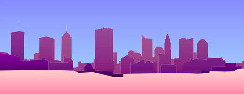 Blue-Purple-Pink Skyline by vidthekid