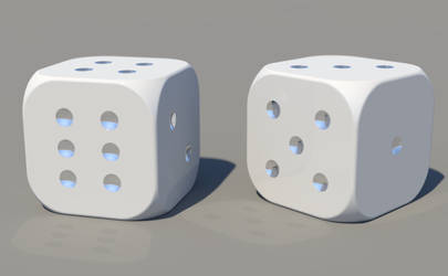 A Pair of Rounded D6 by vidthekid