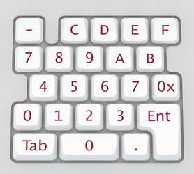 Dual Base Numeric Data Entry Keypad by vidthekid