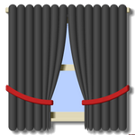 Window with Curtains by vidthekid