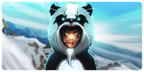 Snow Panda. by thedarkinker