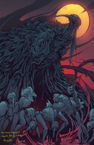 Feast under the Moon - Patreon reward by Carpet-Crawler