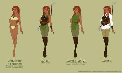 DnD: Leena Tornala Outfit Design by CapricornSun83