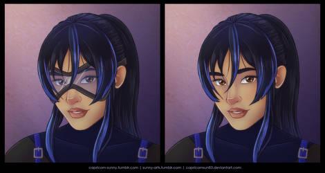 Masks: Blue Iris by CapricornSun83