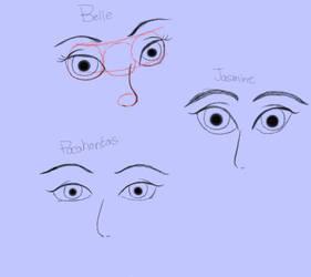 Disney eye practice by mewmewcupake