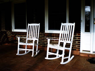 White Rocking Chairs. by artistical-curls