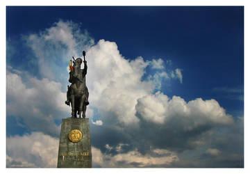 Statue in the sky by ploiesti