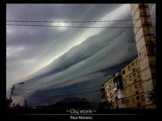 City storm by ploiesti
