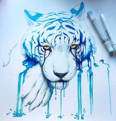 WIP - Blue Tears - by JoJoesArt