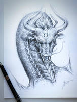 Taurus Dragon by JoJoesArt