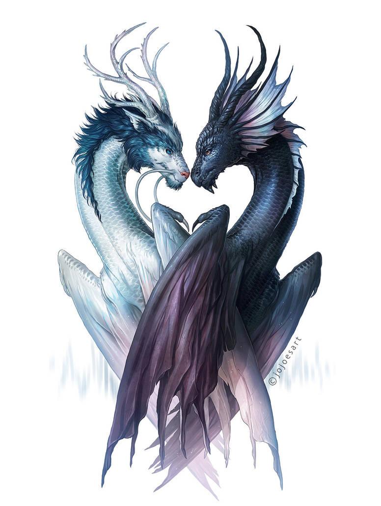 Dragons of Yin and Yang by JoJoesArt