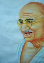 Mahatma Gandhi by art-devi