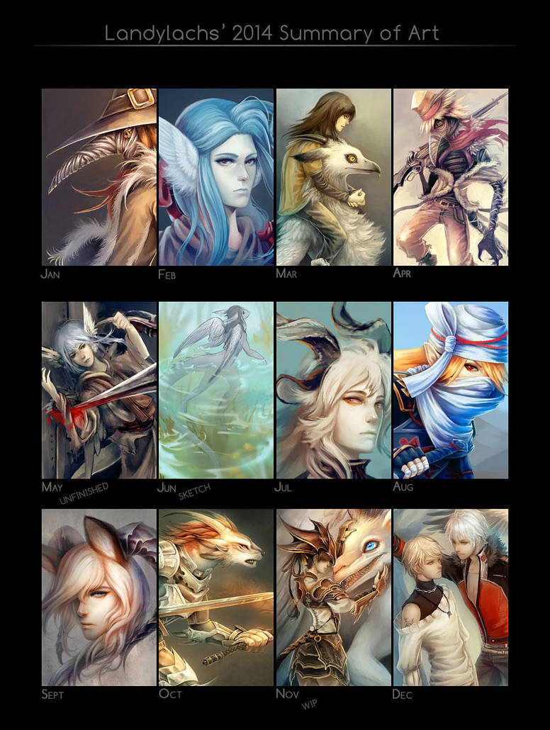 2014 Summary of Art by Landylachs