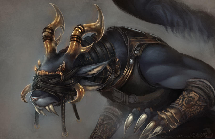 Charr Mesmer Rough Painting by Landylachs