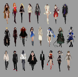 APB Fashion Sketches by arnistotle